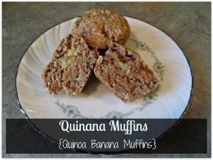 Quinana Muffins {Quinoa Banana Muffins}