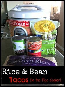 Rice & Bean Tacos